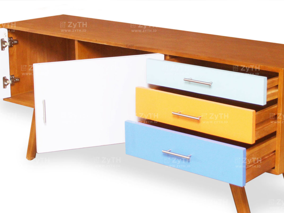 Jauza Sideboard 3 Drawers and 2 Door Cabinets